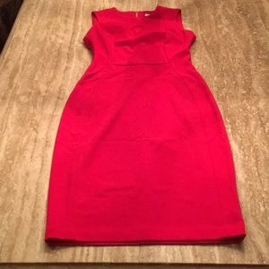 Calvin Klein Red Sheath Dress